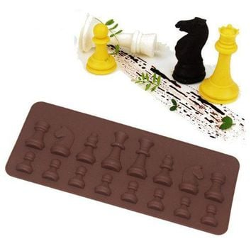 Silicone Chess Fondant Cake Mold Chocolate Candy Sugar Mould Bakeware Decorating Tool
