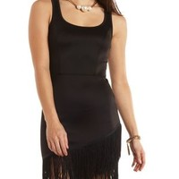 Bodycon Fringe Tulip Dress by Charlotte Russe