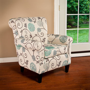 Christopher Knight Home Roseville Fabric Floral Club Chair | Overstock.com Shopping - The Best Deals on Living Room Chairs