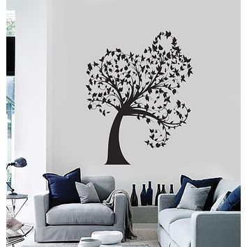 Wall Decal Tree Leaves Beautiful Home Decoration Art Vinyl Stickers Unique Gift (ig2851)