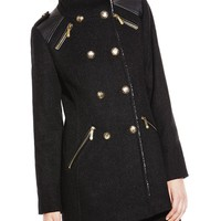 Vince Camuto Military Sherpa Coat