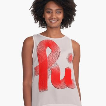 "'""hi"" hand drawn typography' Contrast Tank by BillOwenArt"