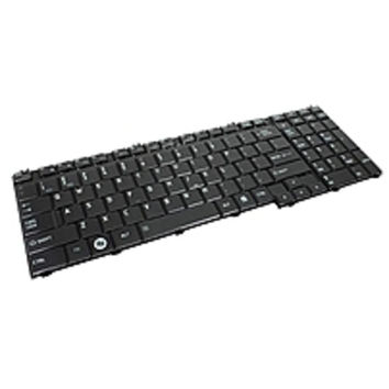 Toshiba A000076100 US Glossy Keyboard for Satellite C650, C650 Series, C650D Series - Black