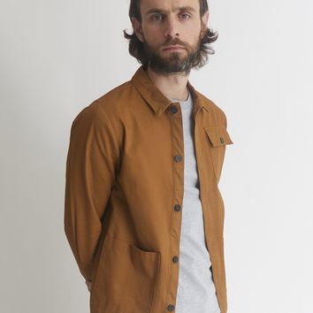 The Idle Man 3 Pocket Chore Jacket Brown