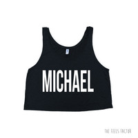 Michael Tank Top | 5 Seconds of Summer screen print Crop Tank