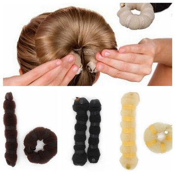2Pcs Best selling Fashion Hair Tools Elegant Magic Style Buns Hair Accessories = 5658557825