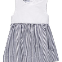 White & Charcoal Jackie Dress - Infant, Toddler & Girls