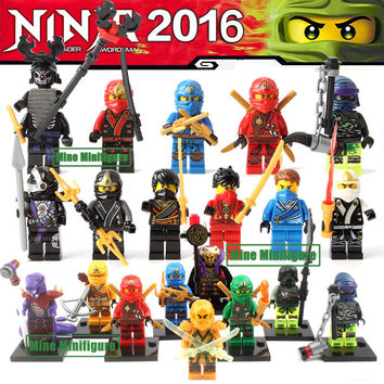 Single Sale Fantom Ninjagoe Minifigures Blocks KAI JAY COLE ZANE Lloyd WU NYA GARMADON Morro Blocks compatible with lego Toys