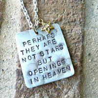 Perhaps They Are Not Stars But Openings in by Crafting4Cause