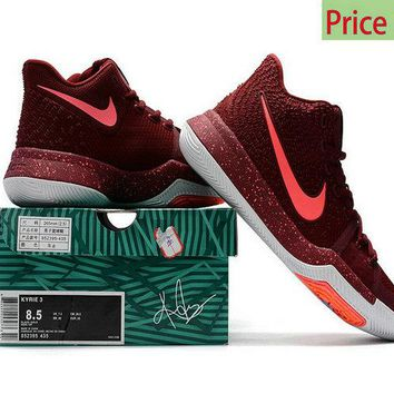 Sneaker paint Kyrie 3 Hot Punch Warning With Air Cushion sneaker