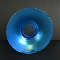 Fenton Art Glass - Fenton Glass Bowls - Celeste Blue - Flared Bowl - Melon Rib - Vintage Home Decor