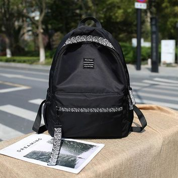 University College Backpack Middle school students new female canvas  high junior high school students small fresh campus AT_63_4