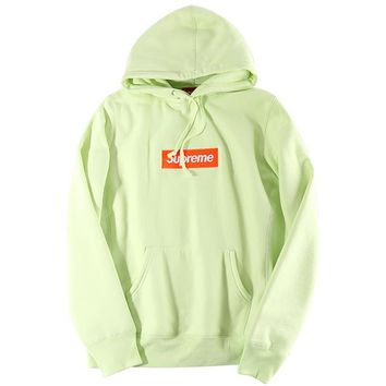 Autumn and winter skateboarding tide brand Supreme embroidery simple hooded sweater men and women F-CN-CFPFGYS