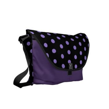 Pretty in Purple Polka Dots Courier Bags
