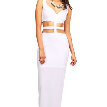 Cross Divide Maxi Dress