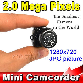 Micro Portable HD CMOS 2.0 Mega Pixel Pocket Video Audio Digital Camera Mini Camcorder 640*480 480P DV DVR 720P