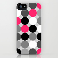 Cute retro dots  iPhone & iPod Case by Silvianna