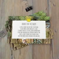 Instant Download - Where the Wild Things Are Monsters Max Alexander Douglas The Bull Baby Shower Birthday Bring A Book Card Template