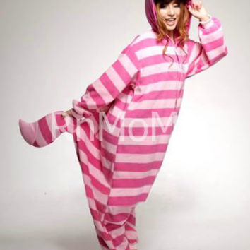 KIGURUMI Cosplay Romper Charactor animal Hooded Night clothes Pajamas Pyjamas Costume sloth  outfit Sleepwear   cheshire cat