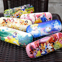 Hot Disney Princesse Durable Glasses Box Mermaid Sunglasses Case Hot Kid Gift