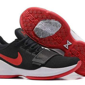 DCCKL8A Jacklish Nike Zoom Pg1 Black White Red Basketball Shoes For Sale