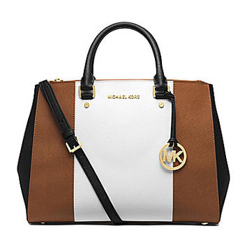 MICHAEL Michael Kors Sutton Colorblocked Large Dressy Satchel