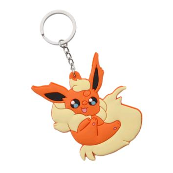 Brand New Video Game Pokemon Flareon Keychain