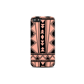 CORAL iPhone Case Peach iPhone 4 Case Pink iphone 5 Case Aztec iPhone5s Case Tribal Galaxy S4 Case Boho, Summer, Pastel, Neon Phone Case