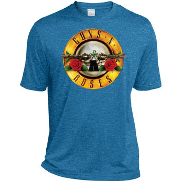 N Roses T Shirt Guns T Shirt-01  ST360 Sport-Tek Heather Dri-Fit Moisture-Wicking T-Shirt