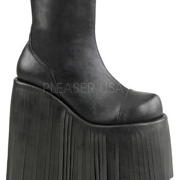 Black Vegan Leather Festival and Rave Boot