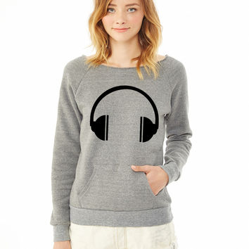 Headphones 6 ladies sweatshirt