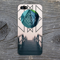 Geometric Sphere x Endless Wooden Staircase Phone Case for iPhone 6 6 Plus iPhone 5 5s 5c 4 4s Samsung Galaxy s5 s4 & s3 and Note 5 4 3 2
