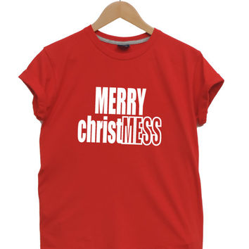 Merry CHRISTmess Christmas t shirt Funny Christmas gift for men and women Dope tshirt XXS - XXL