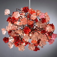 Hanging chandeliers Red roses by Flowersinlight on Etsy
