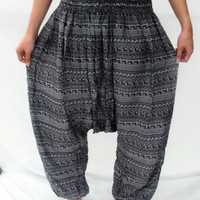 Classic Bohemian Drop Crotch Pants Yoga Gypsy Harem Wide Legged Pants boho dance pants arabic