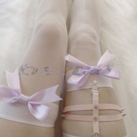Handmade Thigh-High Legs Suspenders Sock Garter Girls Stocking Rivets Women Belt