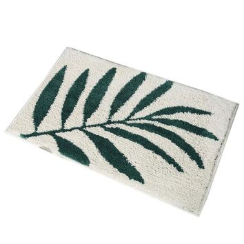 Autumn Fall welcome door mat doormat Pretty Comfy Green Leaves Pattern Thickened Flocking s Home Porch Anti-slip Door Rugs Bathroom Absorbent Mats Home Decor AT_76_7