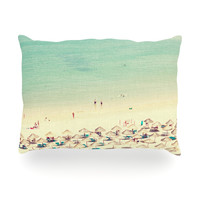 "Ingrid Beddoes ""Happy Summer"" Beach Oblong Pillow"