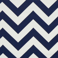 Navy Chevron Window Treatments
