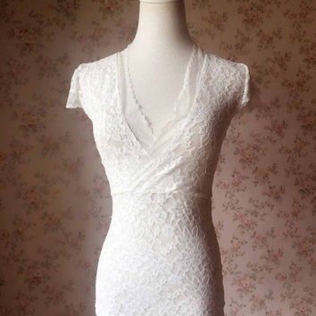 lace wedding top separate, Lace tops for women,  Short sleeved lace topper, Casual Wedding - Plus size women