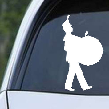 Drummer Marching Band Die Cut Vinyl Decal Sticker