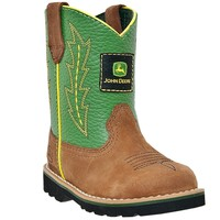 John Deere - Johnny Popper Infant Boot - Tan and Green