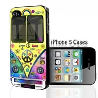 Hippie Peace Love Mini Van Bus - Tie Dye iPhone 4 4s Hard Case