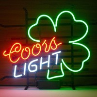 Coors Light Shamrock Neon Sign