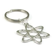 Atom Keychain, Science Key Chain