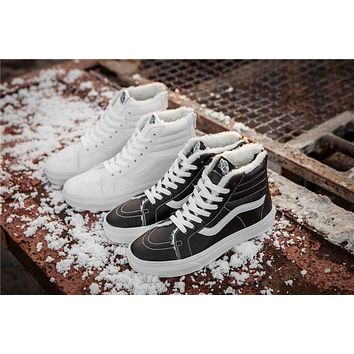 Vans Warm Classic Leather Plus Leather Zipper Skateboarding Shoes 35 44 | Best Deal Online