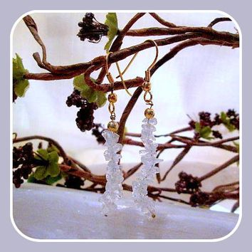 """Clarity & Wisdom"" Clear Quartz Chip Earrings"