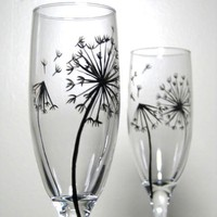 Champagne Flutes- Dandelion Collection, Set of 2
