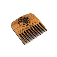 Game of Thrones Targaryen Dragon Beard Comb Fire and Blood Wooden Mustache Comb For Him Fathers Day Men Gift for Him Husband Friend Gift