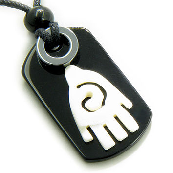Buddha Lucky and Protection Infinity Hand Magic Amulet Tag Pendant Necklace
